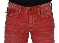 True Religion Men's Jeans Geno W Flap Corduroy Red MC894VQ2 CHN NWT Authentic SZ