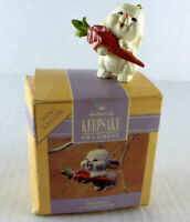 "Hallmark Keepsake 1990  ""24k Daughter"" Handcrafted Easter Bunny Ornament"