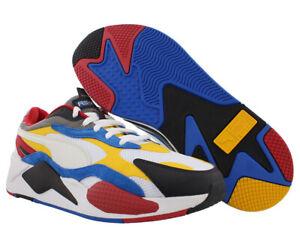 Puma RS-X3 Puzzle Mens Shoes, Color: Puma White/Spectra Yellow/Puma Black