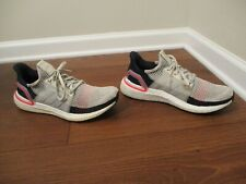 Used Worn Size 10.5 Adidas Ultraboost 2019 Shoes Gray Red Navy White B37705
