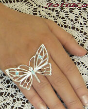 JoliKo Edler Ring Silber Topas Schmetterling Topaz Butterfly Papillon Unigröße