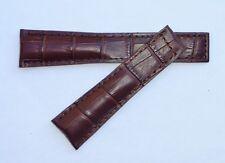 20mm, 20/18mm for BREITLING Brown Color Alligator-Style Band Strap
