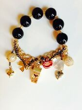 Betsey Johnson Black Pearl Multi-element Bracelet