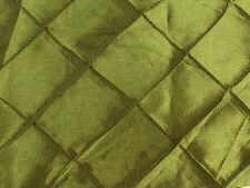 "OLIVE GREEN 2""X2"" DIAMOND PINTUCK TAFFETA FABRIC $2.99/YARD"