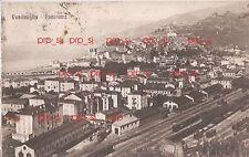 VENTIMIGLIA PANORAMA FERROVIA TRENO VIAGGIATA 1922