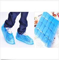Blue Disposable Plastic Thick Carpet Cleaning Shoe 100pcs Overshoes Protective