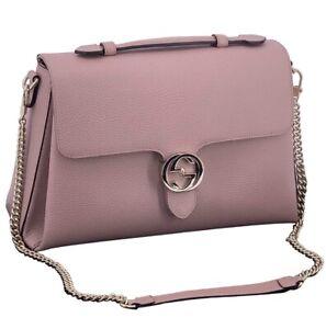Gucci Interlocking Leather Crossbody Shoulder Bag Handbag