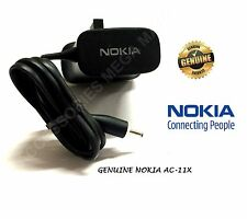 GENUINE NOKIA MAINS WALL 3 PIN CHARGER PLUG AC-11X FOR NOKIA N96, X3, X6 16GB