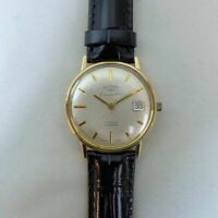FINE ROTARY 9 CT GOLD COMMODORE 21 JEWEL AUTOMATIC DATE ADJUST WRISTWATCH G.W.O.