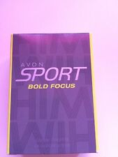 New Avon Sport Bold Focus EDT 50ml Gents In Box Gift