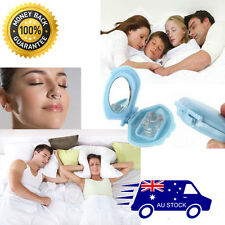 2x STOP SNORING NOSE CLIP & BOX: PREMIUM QUALITY Silicon Anti Snore Sleep Aid