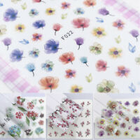 3D Nail Art Transfer Stickers Flower Decals Water Film Paper Manicure Decor Tips