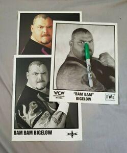 BAM BAM BIGELOW officially-licensed, original WCW Promo Photos * Lot of 3