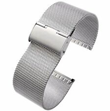 24mm Stainless Steel Mesh Milanese Watch Band Bracelet colour Silver