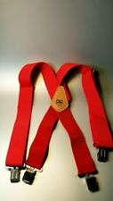 Leathercraft Construction Heavy Duty Work Suspender Elastic Strap Holder Red
