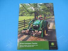 Original John Deere Sales Brochure 4105 Compact Tractors  M1314