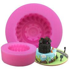 Vente Chaude Ronde Pneu Forme Silicone Bonbons Voiture 3D roues gâteau au chocolat Moules