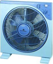 Ventilatore Da Tavolo Pavimento Terra Quadrato Silenzioso Blue 3 Velocità Timer