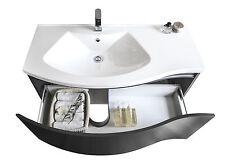 BERNSTEIN Badmöbel Set 100cm Waschbecken Unterschrank Spiegel optional