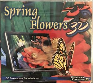 Spring Flowers 3D Screensaver Pc Brand New XP Brilliant Flowers Ladybugs Bees