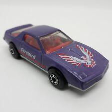 Vintage Matchbox Purple 1982 Pontiac Firebird SE Red Interior & Steering Wheel