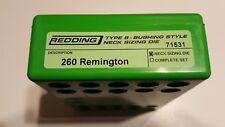 71531 REDDING TYPE-S NECK BUSHING SIZING DIE - 260 REMINGTON - BRAND NEW