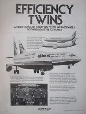 12/1982 PUB AVION BOEING 737 737-200 737-300 AIRLINER COCKPIT ORIGINAL AD