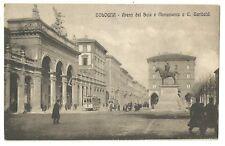 Italy Old Postcard  Bologna Arena Del Sole E Monumento a G. Garibaldi