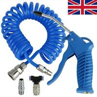 Air Duster Blow Gun With 5m Recoil Hose Truck Lorry Dust Blower Cleaning Nozzle