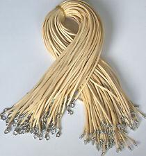 Vrac lot 10 pcs beige en daim cuir chaîne 20 pouces collier cordons hot