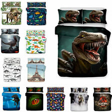 The Lost World Jurassic Park Dinosuar Duvet Cover Set Boys Girls Kid Bedding Set