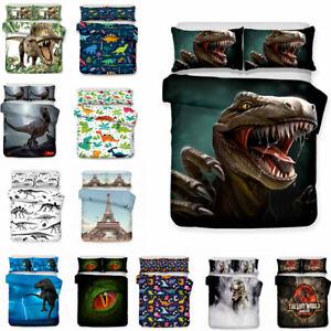 The Lost World Jurassic Park Dinosuar Duvet Cover Set Boys Girls Kid Bedding Set