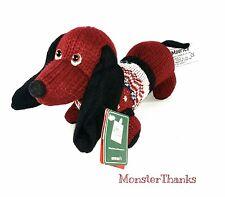 """Russ DACHSHUND Dog """"MAURICE"""" Knit Sweater Plush Stuffed #24229 8"""" PUPPY w TAGS"""