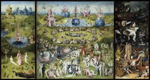 Huge!! 80cmX150cm -Bosch - The Garden of Earthly Delights- Canvas Print Unframed