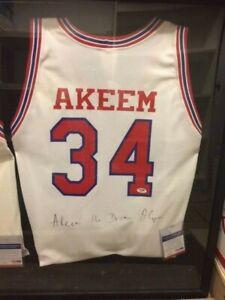 Hakeem Olajuwon Autographed Houston Cougars Jersey JSA Certified