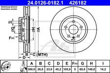 2x Bremsscheibe für Bremsanlage Vorderachse ATE 24.0126-0182.1