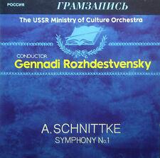 CD SCHNITTKE - symphony no. 1, Rozhdestvensky, Melodiya / Gramzapis