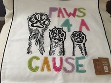PB TEENS Pottery Barn Pillow Cushion Cover Paws 4 A Cause ASPCA Pals NEW