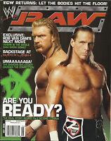 WWE RAW Wrestling Magazine July 2006 Triple H Shawn Michaels DX No Poster