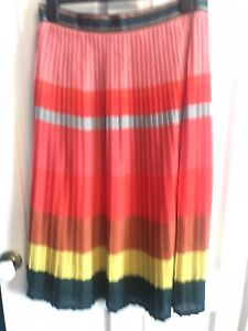 Beautiful Paul Smith Sun Ray Pleat Rainbow Skirt Uk 14 (46)