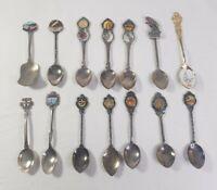 Set of 14 Assorted Vintage Steel Australian Spoons Katoomba Gosford Kiama