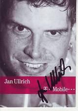 CYCLISME carte cycliste JAN ULLRICH équipe T MOBILE signée