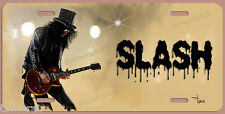 SLASH GNR GIBSON ART LICENSE PLATE, Painted and Made in USA by the Artist
