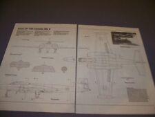 VINTAGE..AVRO CF-100..3-VIEWS/CROSS SECTIONS/DETAILS..RARE! (779H)