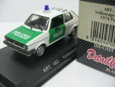 WOW EXTREMELY RARE VW Golf I GTi Polizei Police 1974 1:43 Detail-Minichamps/R32
