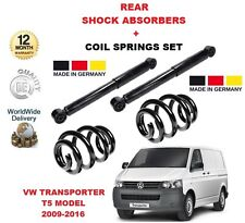 FOR VW TRANSPORTER T5 MARK 5 MK5 2009-2016 REAR SHOCK ABSORBER + COIL SPRING SET