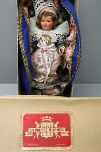 Vintage La Poupee D'Armor French Celluloid Doll with Hang Tag and Box
