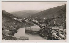 Cornwall postcard - Boscastle Harbour Looking West - RP (A212)