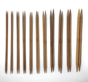 22x Pairs 11x Size Carbonised Bamboo Double Ended Mini Knitting Needles