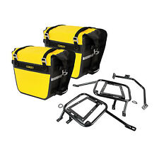 Pannier Racks with Nelson Rigg Sierra Dry Saddlebags Yellow for Yamaha WR250R 20